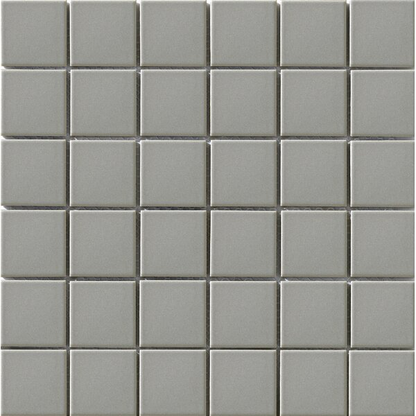 Vintage 2 x 2 Porcelain Mosaic Tile in Gray by Walkon Tile
