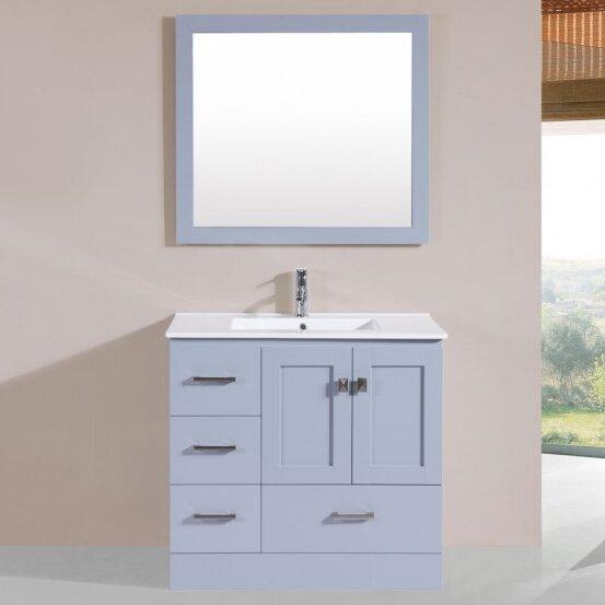 Landrum Modern 36 Single Bathroom Vanity Set with Mirror by Latitude Run
