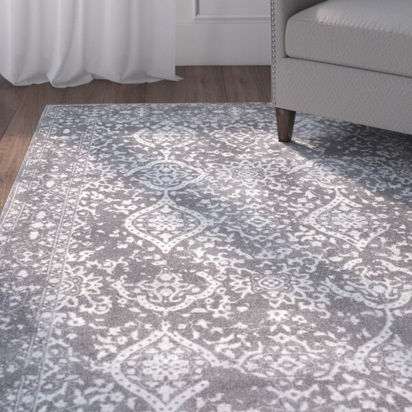 Dorothea Gray Area Rug by Charlton Home