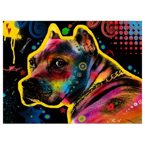 Pit bull Eyes Look 1 by Mark Ashkenazi Graphic Art by Prestige Art Studios