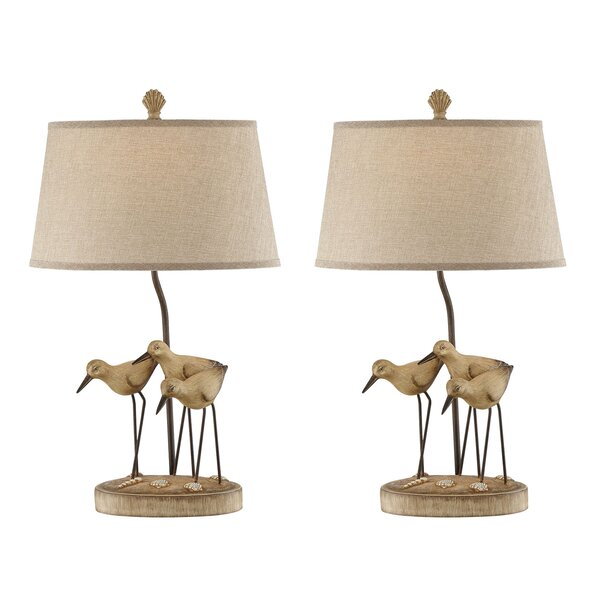 Sansa Trio Shore Birds 29 Table Lamp (Set of 2) by Highland Dunes