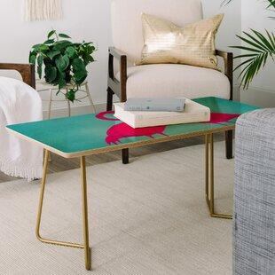 Coco de Paris Flamingo Heart Coffee Table ByEast Urban Home