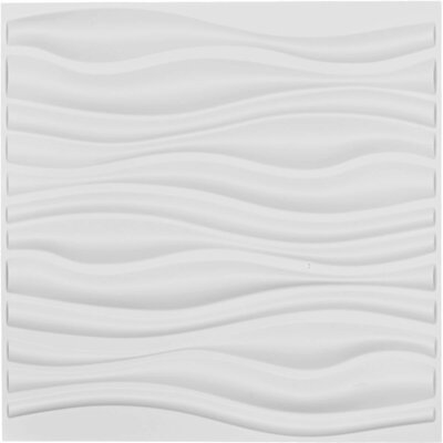 "Ekena Millwork Leandros Endurawall Decorative 19.63"" x 19.63"" Paintable Wallpaper Panel"