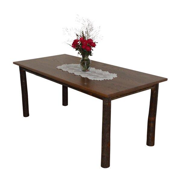 Wyton Hickory Solid Wood Dining Table by Loon Peak Loon Peak