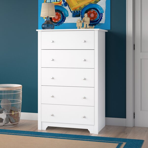 Olympia 5 Drawer Standard Dresser by Andover Mills