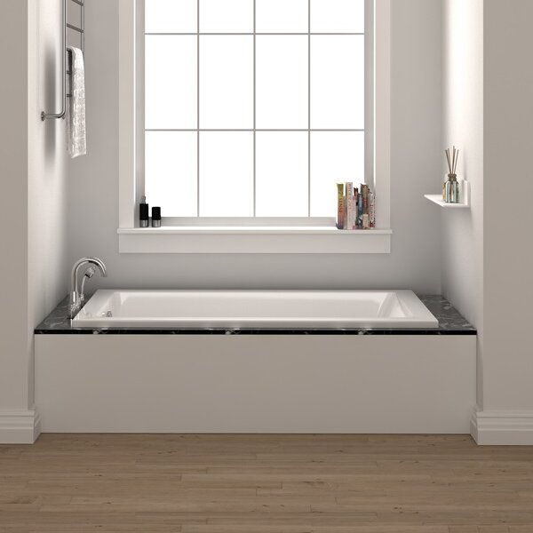 Fine fixtures drop in 54 x 30 soaking bathtub reviews for Soaking tub vs bathtub