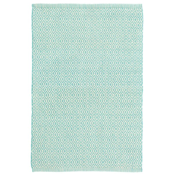 Crystal Blue/White Indoor/Outdoor Area Rug by Dash and Albert Rugs