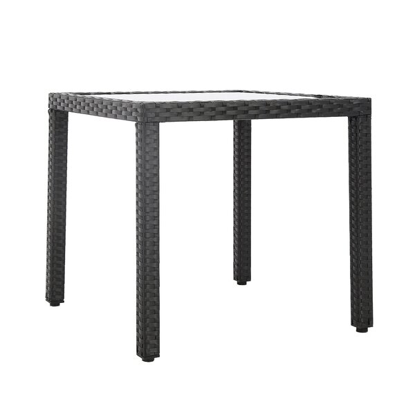 Riceboro Backyard Resin Wicker Dining Table by Ivy Bronx