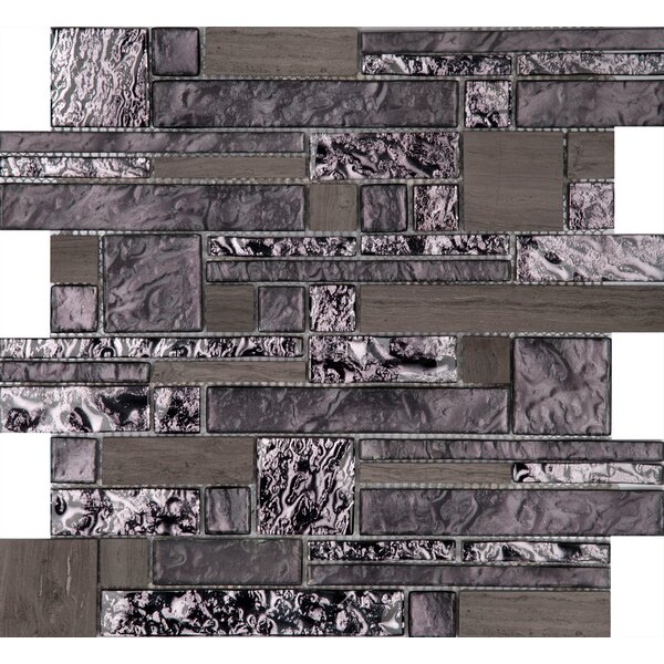 Vista 12 x 12 Glass Stone Blend Pattern Mosaic Tile in Reach by Emser Tile