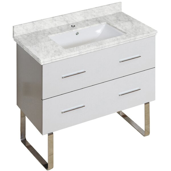 Phoebe Modern Drilling Floor Mount 36 Single Bathroom Vanity Set by Orren Ellis