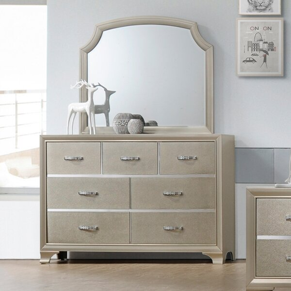 Harbin 7 Drawer Dresser with Mirror by House of Hampton
