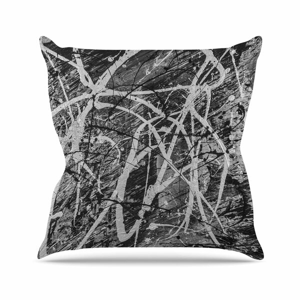 Bruce Stanfield Verness in Grayscale Outdoor Throw Pillow by East Urban Home