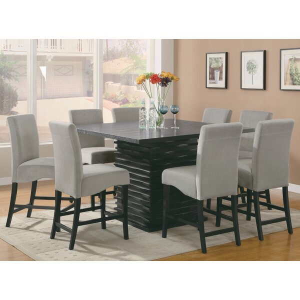 Calixte 9 Piece Counter Height Dining Set by Red Barrel Studio Red Barrel Studio