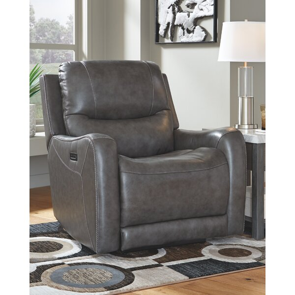Genuine Leather Reclining Heated Massage Chair W003392686