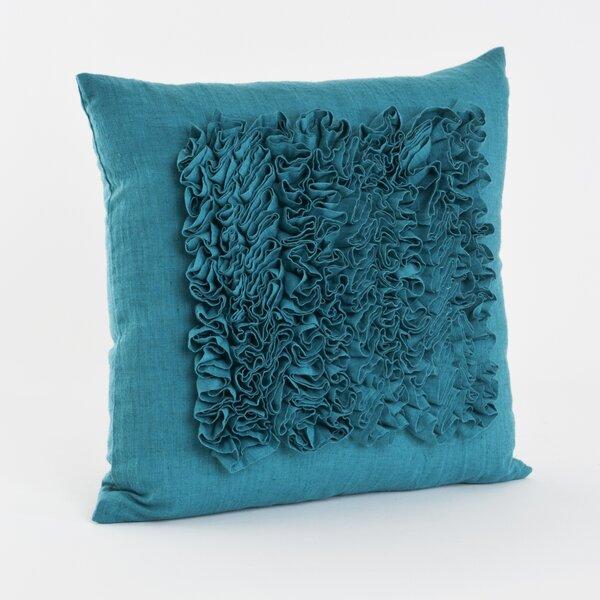 Ruffled Throw Pillow by Saro