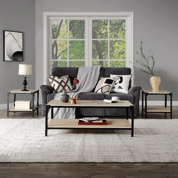 Leeton 3 Piece Coffee Table Set by Ebern Designs Ebern Designs