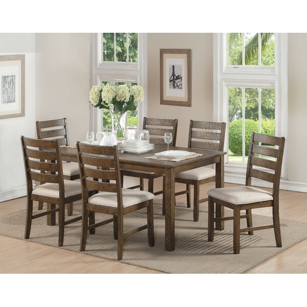 Wickliffe Wooden 7 Piece Dining Set by Loon Peak