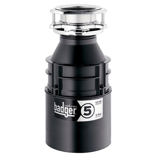Badger 5 1/2 HP Continuous Feed Garbage Disposal (With Optional Power Cord) by InSinkErator