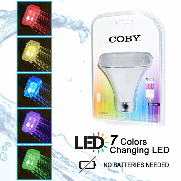 LED Color Changing Full Fixed Shower Head by COBY