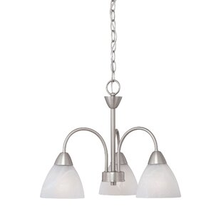 Read Reviews Sheldrake 3-Light Shaded Chandelier By Andover Mills