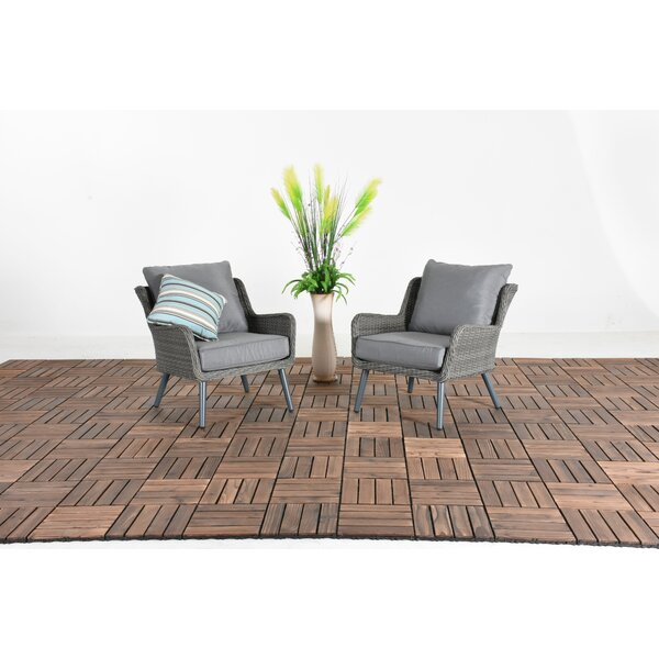 Oden Patio 2 Piece Rattan Sofa Seating Group with Cushion by Bungalow Rose