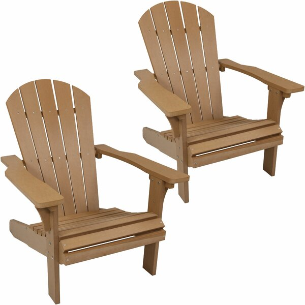 Burlington All-Weather Plastic Adirondack Chair (Set of 2) by Millwood Pines Millwood Pines