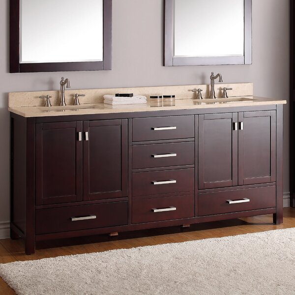 Poyen 73 Double Bathroom Vanity Set by Charlton Home