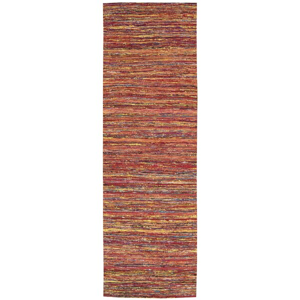 Zahra Hand-Woven Red Area Rug by Barclay Butera