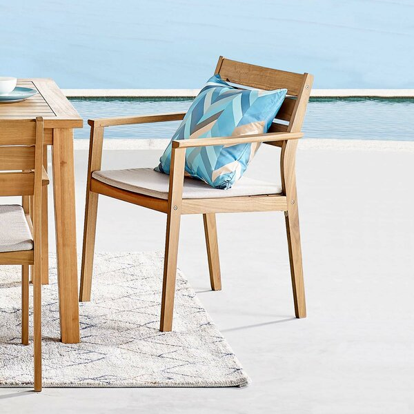 Aliya Patio Dining Chair with Cushion by Rosecliff Heights