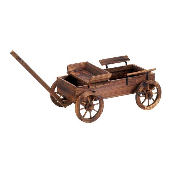 Tessier Wagon Fir Wheelbarrow Planter by Millwood Pines
