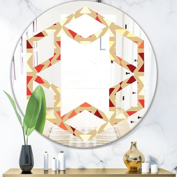 Hexagon Star Design IX Eclectic Wall Mirror