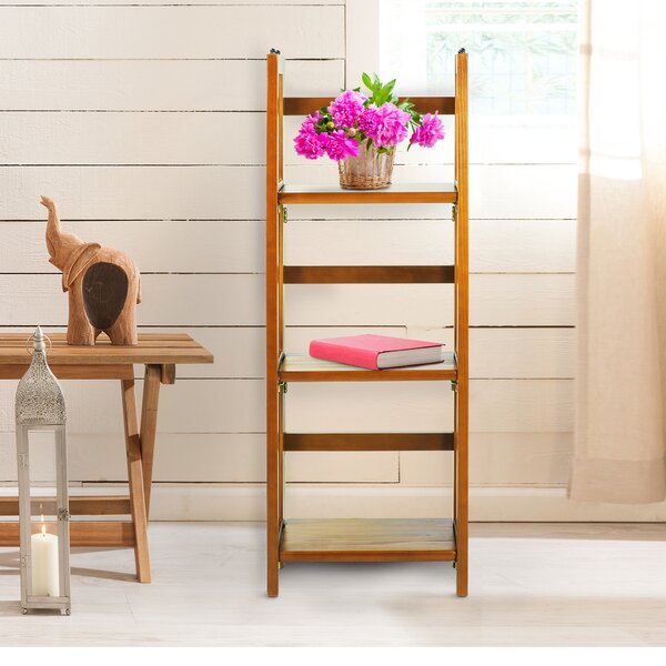 3 Shelf Folding Stackable Standard Bookcase by Casual Home