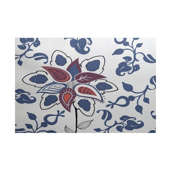 Orchard Lane Blue Indoor/Outdoor Area Rug by Alcott Hill