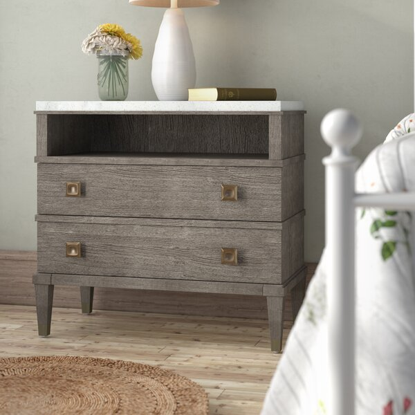 Massimo 2 Drawer Nightstand by Mistana