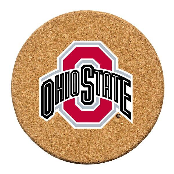 Ohio State University Cork Collegiate Coaster Set (Set of 6) by Thirstystone