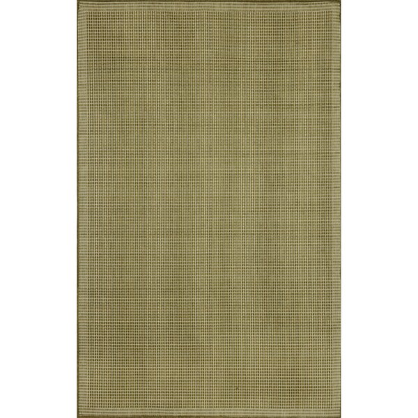 Cecile Green/Ivory Texture Indoor/Outdoor Area Rug by Beachcrest Home