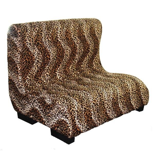 Upholstered Plush Leopard Tufted Dog Bed by ORE Furniture