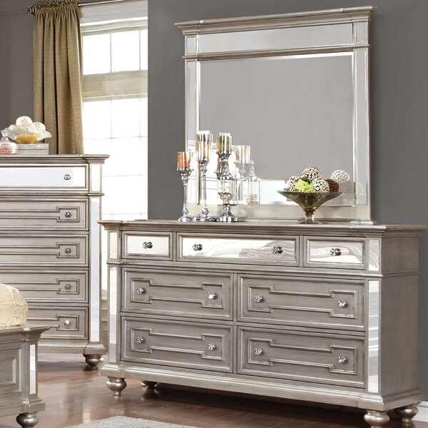 Ronna 7 Drawer Double Dresser with Mirror by Willa Arlo Interiors