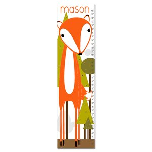 Brave Fox Personalized Canvas Growth Chart by Finny and Zook