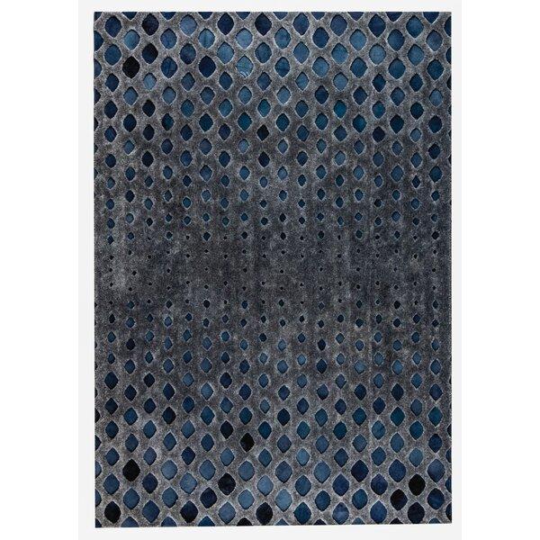 Cursa Handmade Dark Gray/Blue Area Rug by M.A. Trading