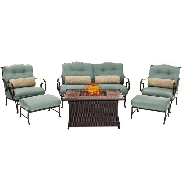 Cowell 6 Piece Sofa Set with Cushions by Rosecliff Heights Rosecliff Heights