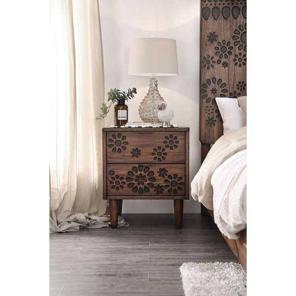 Sergei 2 Drawer Nightstand by Bungalow Rose