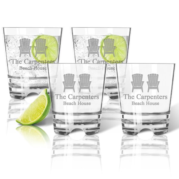 Personalized Tritan 12 oz. Old Fashioned Glass (Set of 4) by Carved Solutions