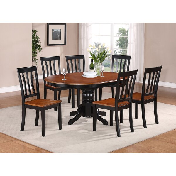 Spurling 7 Piece Drop Leaf Solid Wood Dining Set by August Grove