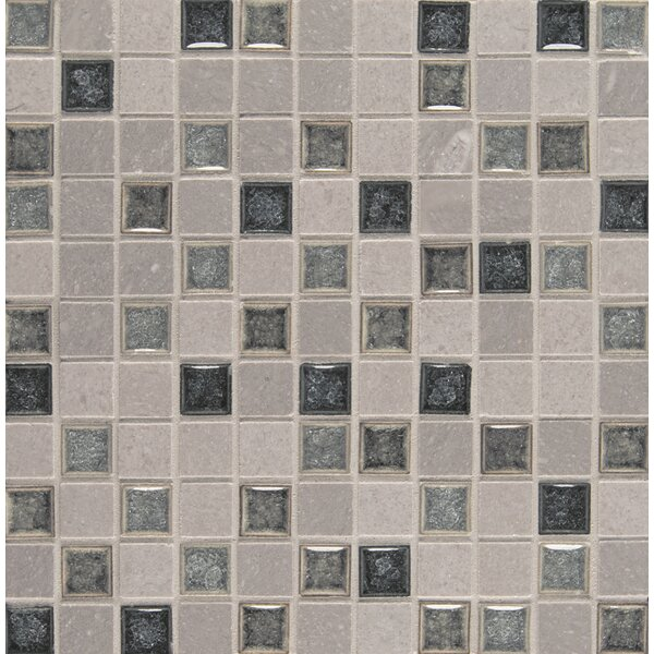 Kisment 1 x 1 Glass Mosaic Tile in Fate by Bedrosians