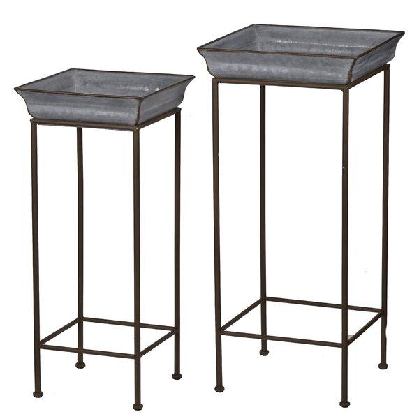 Patchett 2 Piece Iron Stand Planter Box by Gracie Oaks