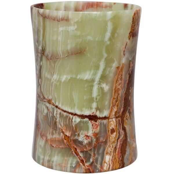 Root Onyx Stone 1.5 Gallon Waste Basket by Fleur De Lis Living