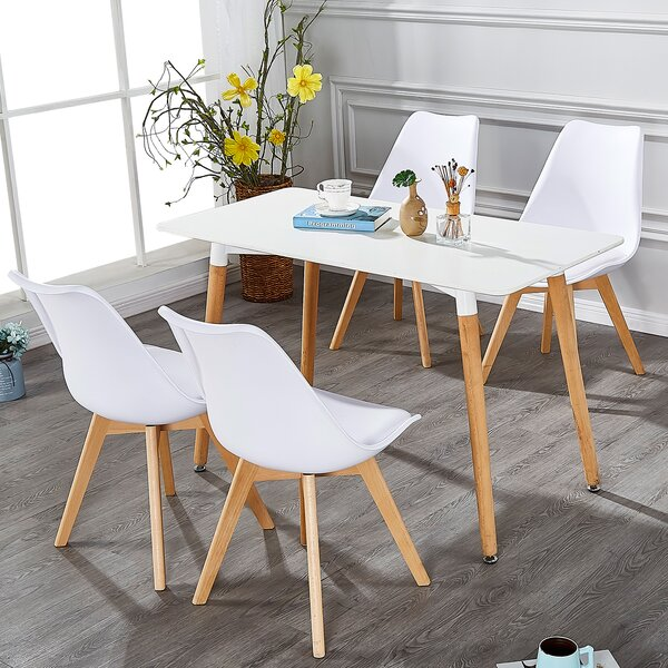 Best #1 Buie Upholstered Dining Chair (Set Of 4) By George Oliver Top Reviews