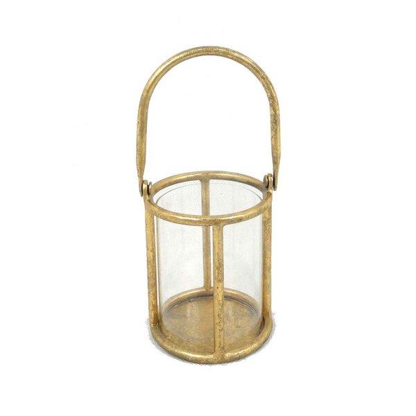 Metal & Glass Lantern by Donny Osmond Home