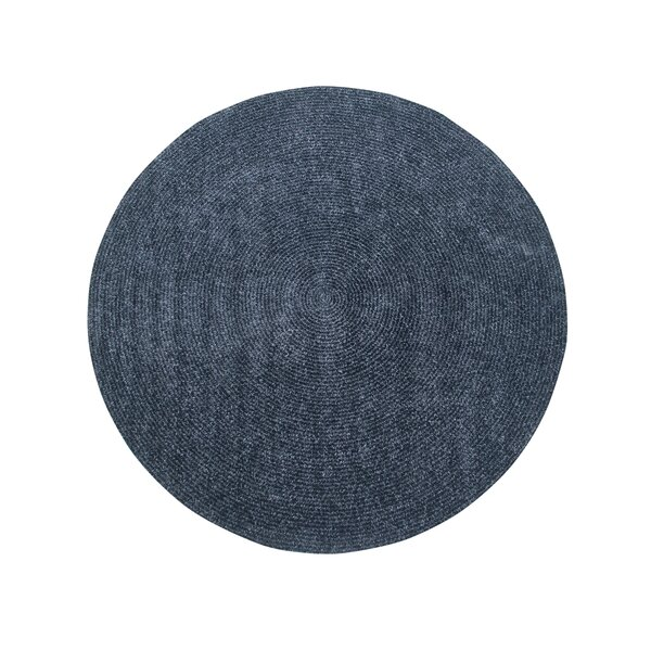 Keaton Chenille Reversible Braided Gray Area Rug by Winston Porter